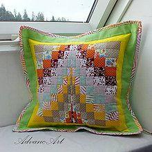 Úžitkový textil - Vankúš dúha v zelenej - 6940406_