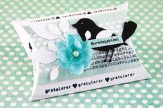 ♥ kreativt uttrykk ♥: Bursdagsklem! Birds, Mini, Tags, Bird, Mailing Labels