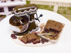 Kitchen Aid Mixer and Chocolate Brownies by ParisMiniatures