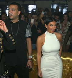 If he's good enough for Kim! Kardashian appears to be getting on famously with Khloe's on/off beau
