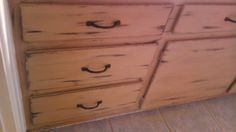 Mom's bathroom cabinets I redone in CeCe's Hershey Brown and Mississippi Mud.