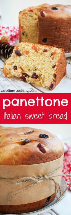 Low Carb Recipes To The Prism Weight Reduction Program Panettone Is A Slightly Sweet Italian Bread, Studded With Fruit, That's Common Over The Holiday Season Both For Gifting And Serving Guests. However, It's So Delicious You'll Want To Find Any Excuse. Italian Desserts, Easy Desserts, Delicious Desserts, Dessert Recipes, Yummy Food, Breakfast Recipes, Christmas Desserts, Christmas Bread, Christmas Cooking