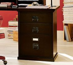 Bedford 3-Drawer File Cabinet | Pottery Barn. Would love to use two of these as the base for a desk. Must find a cheaper version! $270