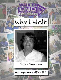 April Walks to #ENDALZ in memory of her maternal grandmother, Georgia. Read her story at  https://alzgrva.wordpress.com/2015/04/29/why-i-walk-april-toliver/. You can now register for the 2015 Walks to End #Alzheimers! Northern Neck – Middle Peninsula; Saturday, September 19th; Fredericksburg; Saturday, September 26th; Richmond Walk to End Alzheimer's; Saturday, November 7th. Register at www.alz.org/walk #dementia #RVA #CentralVirginia #caregiver