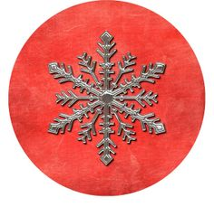 Snow Flake Christmas Button by MyersCottage on Etsy, $2.50
