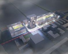 1er Prix du Concours pour le projet Jean Monnet 2 de la Commission Européenne à Luxembourg, en partenariat avec JSWD Architekten, Köln