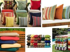 Cushions for Outdoor Patio Furniture Outside Furniture Patio, Patio Furniture Cushions, Lounge Cushions, Patio Dining Chairs, Dining Chair Cushions, Furniture Upholstery, Home Furniture, Furniture Design, Outdoor Furniture