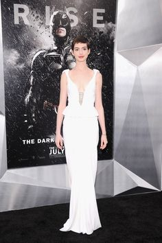 Va-Va-Voom! See the Sexiest Dresses to Hit the Red Carpet in 2012 : From the peplum-trimmed waist to the embellished neckline, Anne Hathaway's Prabal Gurung gown at The Dark Knight Rises NYC premiere was perfection.