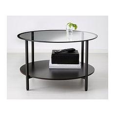 VITTSJÖ Sofabord - sortbrun/glas - IKEA