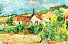 Eglise sur Colline by Michel Kikoine (Belarus)