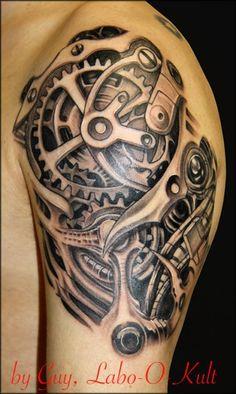 tatouage biomecanique cheville