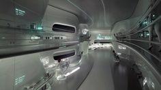 Peregrine Falcon - Cryogenic Lab, Futuristic Interior Design, Augmented Reality, Minimalistic, White Room, Future, Interactive Wall, Futuristic Office, Minimal, Science Fiction