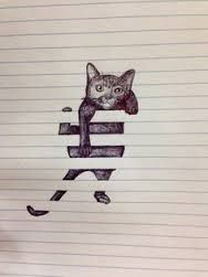 drawing between the lines cat - Google Search