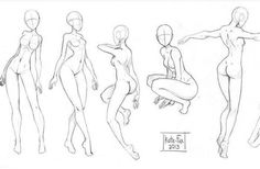 Female standing poses by Sellenin on DeviantArt Body Reference Drawing, Drawing Reference Poses, Poses References, Art Poses, Anatomy Art, Drawing Base, Character Drawing, Female Drawing, Art Drawings Sketches