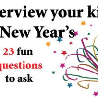New Year's Day Interview Questions - for yourself or your kids