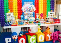 Decoração de festa infantil tema pocoyo Baby Boy 1st Birthday Party, 1st Boy Birthday, Baby Party, First Birthday Parties, First Birthdays, Toy Story Cakes, Eli Pocoyo, Wallpaper, Door Hangings