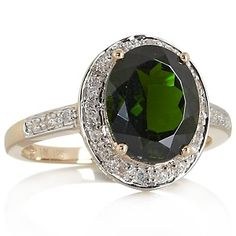 Rarities: Fine Jewelry with Carol Brodie 14K 2.62ct Chrome Diopside and Diamond Ring at HSN.com.