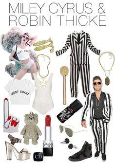 Couples Halloween Costume - Miley & Robin Thicke. I dont understand why someone would want to do this for halloween