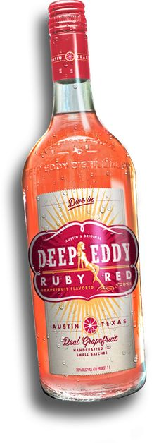 I've converted from Absolute to this perfect concoction YUMMOOOO Deep Eddy Vodka Ruby Red    Premium Vodka   Distillery Austin TX