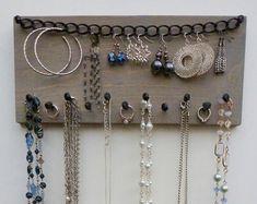 Jewelry Storage Necklace Holder Earring Organizer by HeydayDisplay