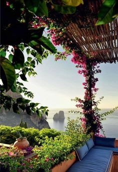 A perfect lazy Sunday destination . a beautiful home on the Island of Capri, Italy . what a view!Matteo Thun in Capri Dream Vacations, Vacation Spots, Places To Travel, Places To See, Travel Destinations, Travel Things, Travel Stuff, Places Around The World, Around The Worlds