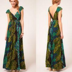Modelos de Vestidos para Evangélicas: Modelo de Vestido longo tropical