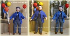 original porcelain doll scale 1/24, made on  request by M. Narbon