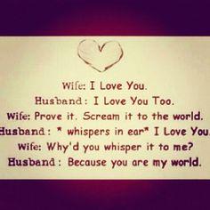 aaaahhhh that is ssoo sweet!  love #wife #husband #iloveyou