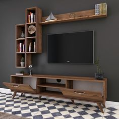 Living Room Wall Units, Living Room Tv Unit Designs, Home Living Room, Tv Stand Ideas For Living Room, Living Room Decor Tv, Living Room Tv Cabinet, Tv Unit Interior Design, Tv Wall Design, Tv Shelf Design