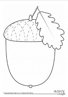 Print our acorn frame in colour or black and white, lined or blank. Applique Templates, Applique Patterns, Applique Quilts, Quilt Patterns, Fall Arts And Crafts, Autumn Crafts, Autumn Art, Preschool Crafts, Crafts For Kids