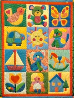 Quilt  Pattern with 20 Classic Appliques For Child's by SaGranny, $6.50