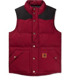 CARHARTT WORK IN PROGRESS Cranberry/Black Douglas Vest