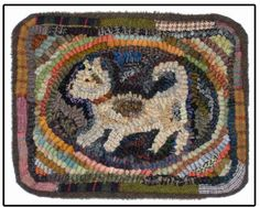 Hooked Rug ... Little Scrapper ... Hooked By Kathy Clark ... Briarwood Folk Art