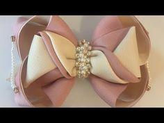 Ribbon Art, Ribbon Hair Bows, Diy Hair Bows, Diy Bow, Fabric Headband Tutorial, Fabric Headbands, Chunky Knit Yarn, Making Fabric Flowers, Barbie Shoes