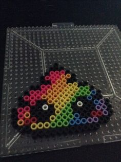 Unicorn Poop Perler bead
