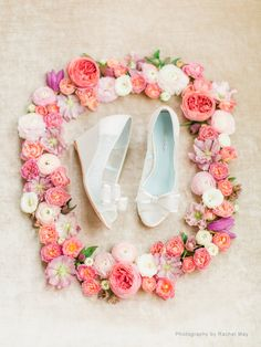 Lace Wedge Wedding Shoes | By Bella Belle Shoes on Etsy. Photo by Rachel May