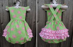 Preppy Turtle Ruffle Bubble from Smocked Auctions