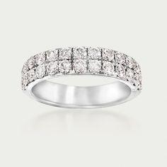 Henri Daussi 1.10 Carat Total Weight Diamond Band in 14-Karat White Gold (864070) | Sidney Thomas