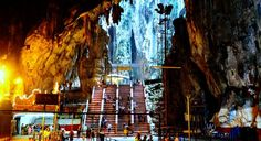 Inside the Main Temple / Cathedral Cave at Batu Caves #travel #wanderlust #cave #nature #tourism #malaysia