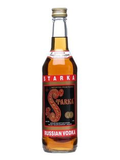 Starka Russian Vodka : Buy Online - The Whisky Exchange - This Starka is an aged Russian vodka, filtered through birch charcoal and quartz sands and enhanced with port, brandy and fruit essences.  Best served well chilled.