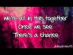 ▶ High School Musical - We're All In This Together (with lyrics) - Theme  ~ Disney.