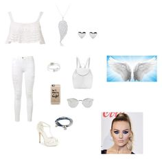 """Light Angel"" by spotlightlove on Polyvore featuring Beauty & The Beach, Frame Denim, Menbur, Nancy Gonzalez, Finesque, Casetify, Fendi, Lizzy James and Rebecca Minkoff"