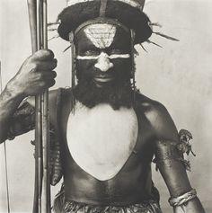 Irving Penn American, 1917–2009 Tambul Warrior, New Guinea, 1970 | The Art Institute of Chicago