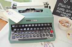 Type writer-a quirky way for guests to leave a message
