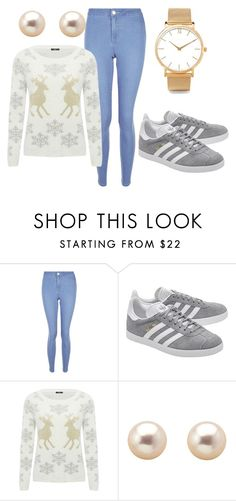 """2 home comforts"" by maja-zmeskalova on Polyvore featuring New Look, adidas Originals, M&Co and Larsson & Jennings"