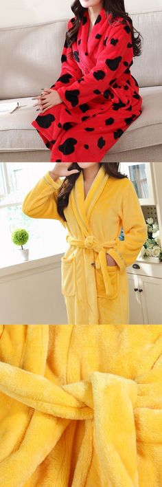 c7592a96ca Petite sleepwear robes woman comfy soft flannel thicken bathrobe winter  keep warm robe sleepwear