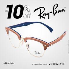 Óculos de Grau Ray Ban com Até 10% de desconto.  Compre em Até 10x Sem Juros e frete grátis nas compras Acima de R$400,00  Acesse: www.aoculista.com.br/ray-ban  #rayban #glasses #oculos #eyeglasses #sunglasses @rayban