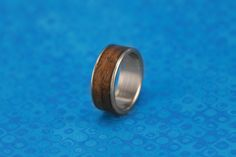 Titanium and Walnut Wood Ring - wooden ring | material: walnut wood and titanium | My first titanium ring.