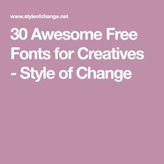 30 Awesome Free Fonts for Creatives - Style of Change Creative Fonts, Classroom Displays, New Fonts, Embroidery Designs, Projects To Try, Wood Projects, Lettering, Calligraphy Fonts, Change