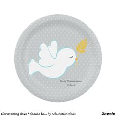 Sold #Christening #dove #paperplate #holycommunion #baptism Available in different products. Check more at www.zazzle.com/celebrationideas